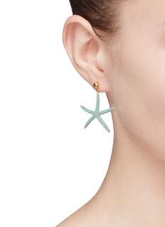HEFANG 'Starfish' cubic zirconia earrings