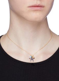 HEFANG 'Starfish' cubic zirconia pendant necklace