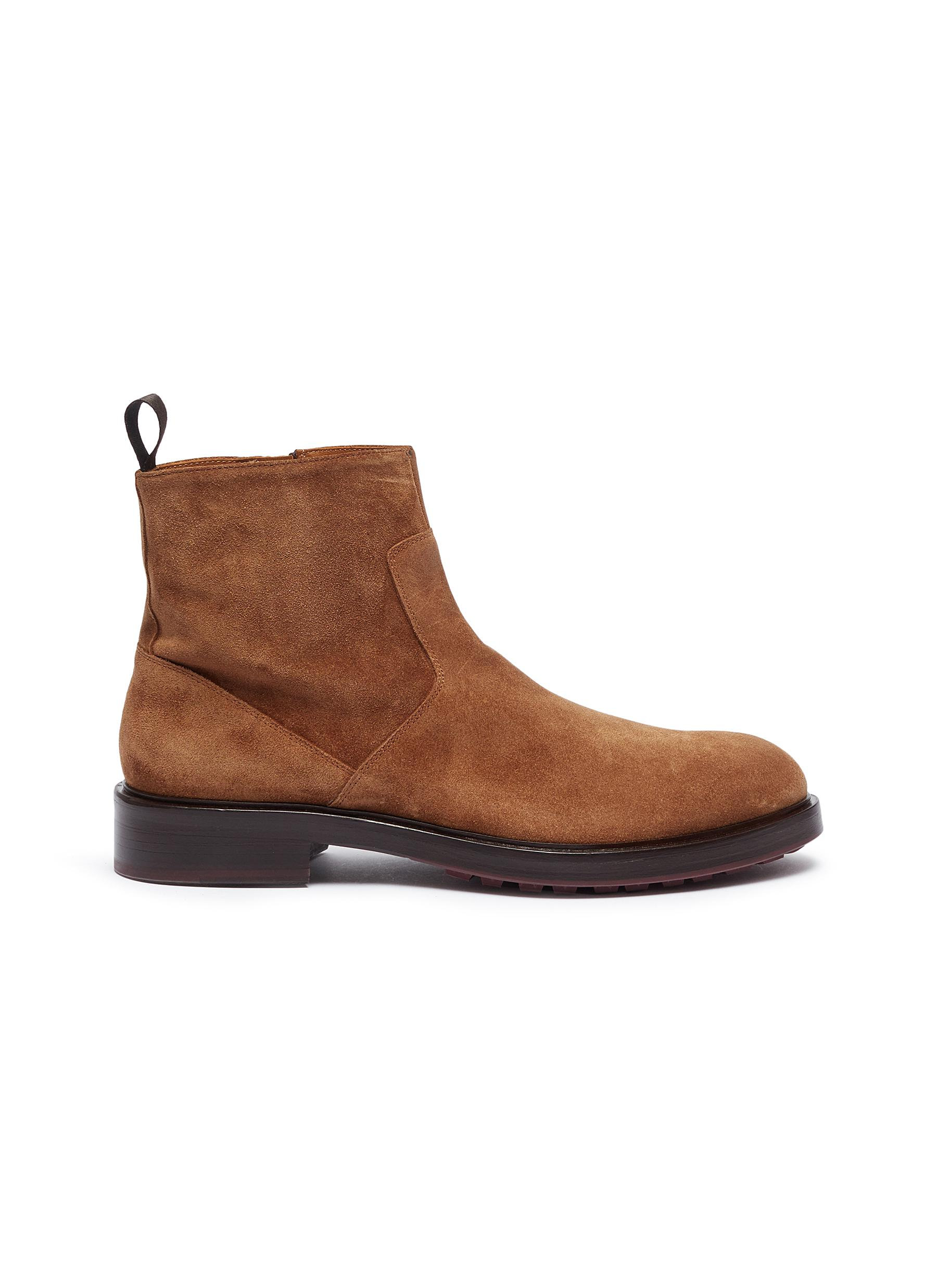 Panelled suede boots by ANTONIO MAURIZI