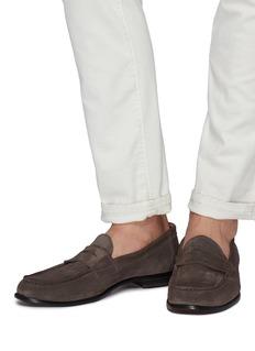 ANTONIO MAURIZI Suede penny loafers