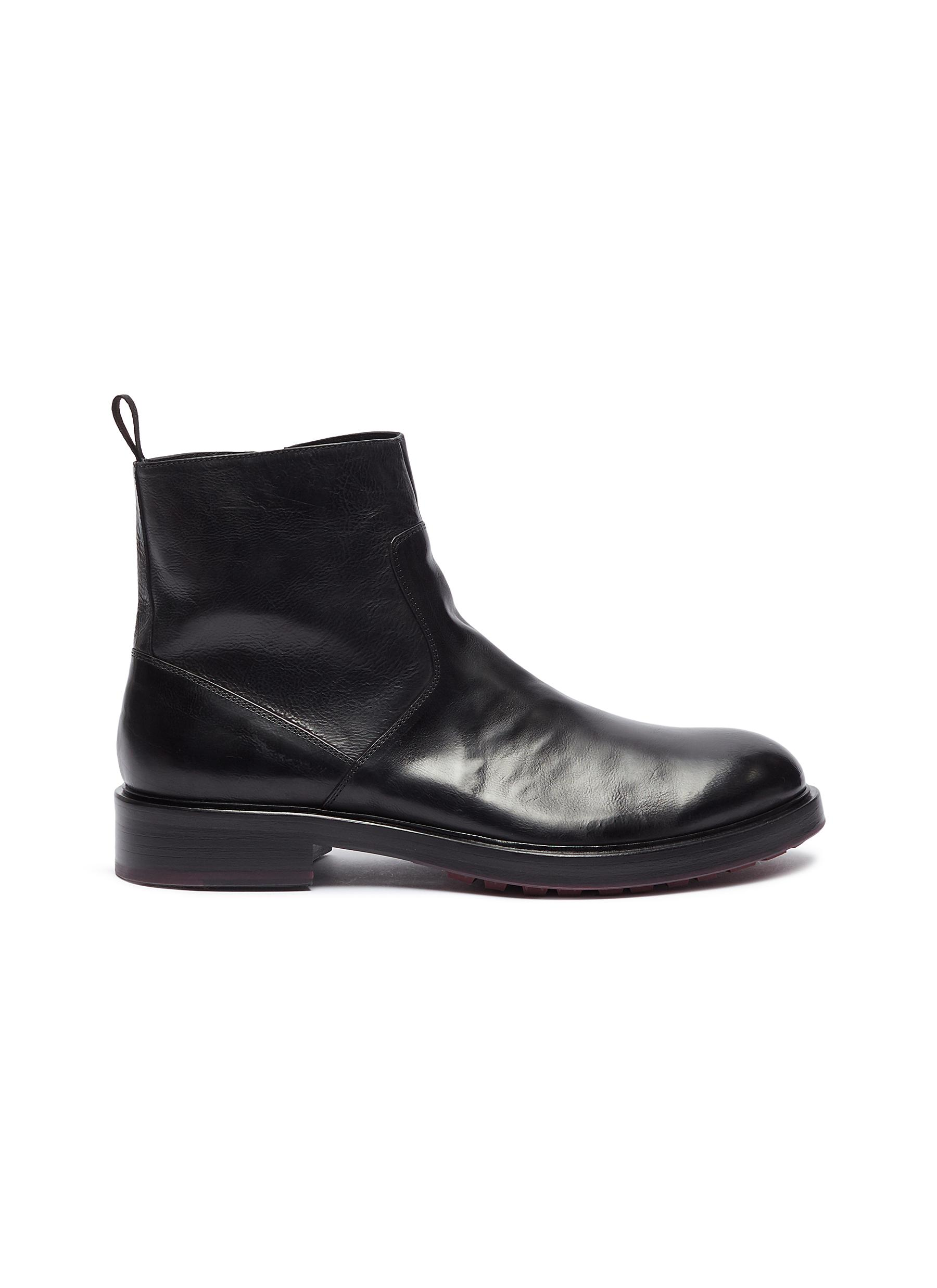 Todi leather ankle boots by ANTONIO MAURIZI