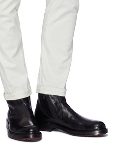 ANTONIO MAURIZI 'Todi' leather ankle boots