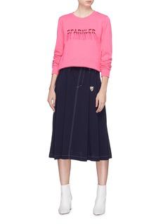 Minki 'Sparkler' fringe slogan embroidered sweatshirt