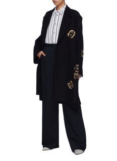 Dries Van Noten Embellished melton coat