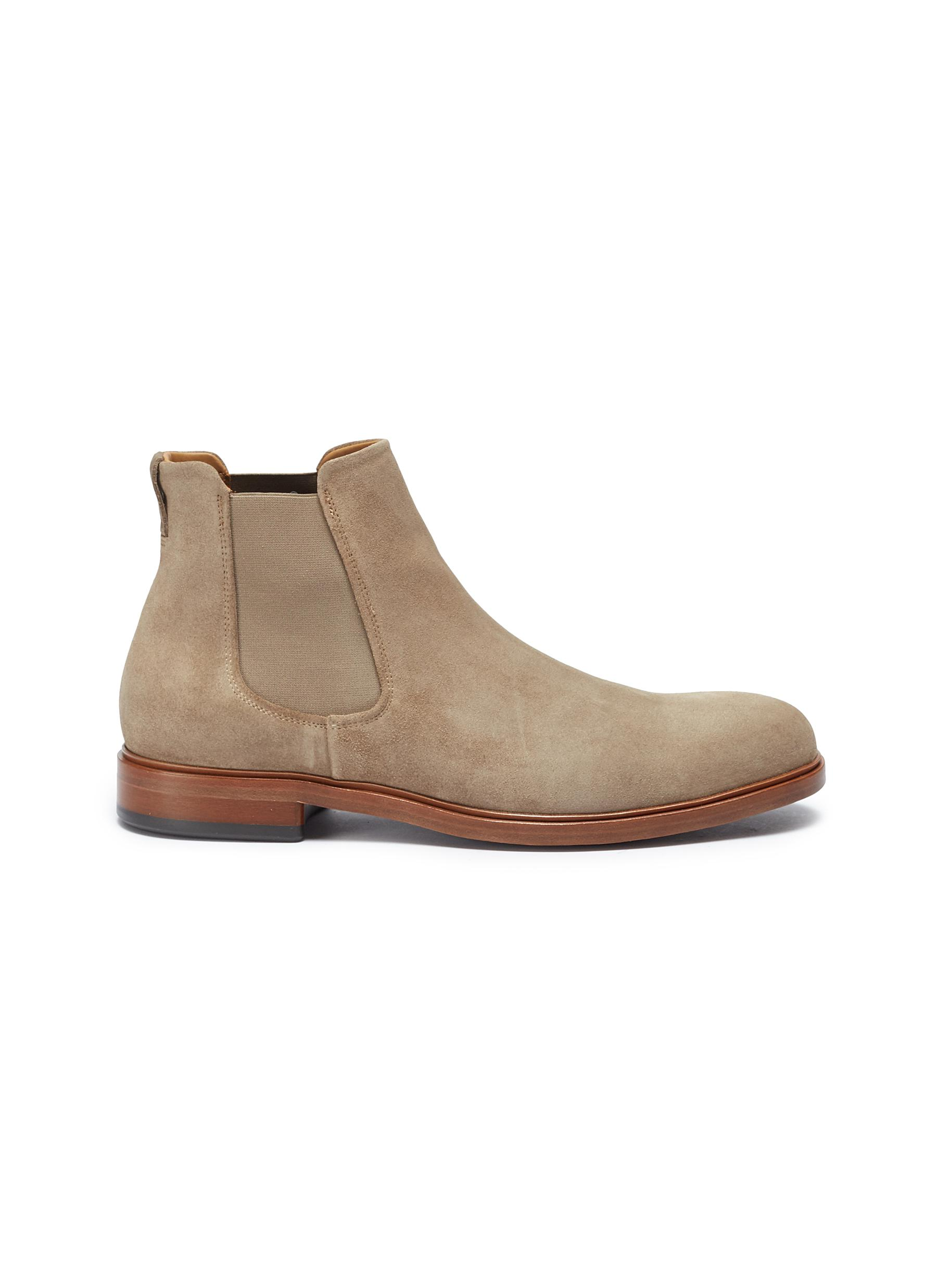 Burroughs suede Chelsea boots by Vince