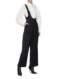Situationist Asymmetric vest panel wide leg pants