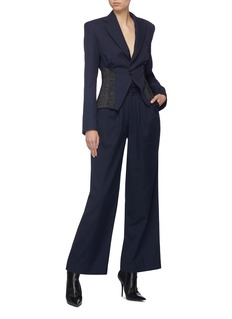 Situationist Notched waist panel wide leg pants