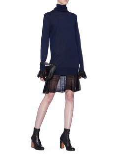 Sacai Colourblock hem wool knit dress