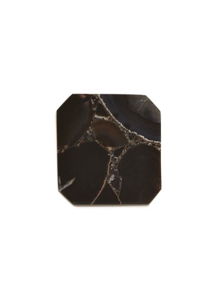 Main View - Click To Enlarge - LANE CRAWFORD - x Stoned Crystals square trivet – Obsidian