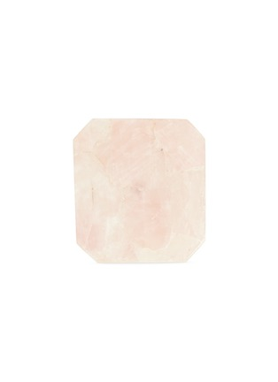 Main View - Click To Enlarge - LANE CRAWFORD - x Stoned Crystals square trivet – Rose Quartz