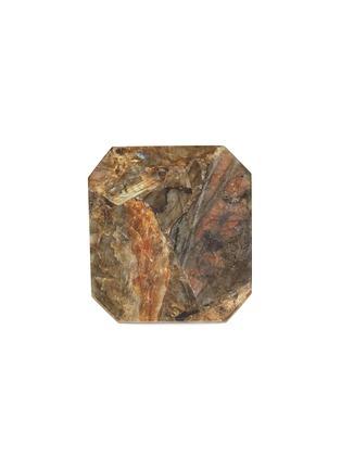 Main View - Click To Enlarge - LANE CRAWFORD - x Stoned Crystals square trivet – Labradorite