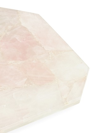 Detail View - Click To Enlarge - LANE CRAWFORD - x Stoned Crystals rectangle tray –Rose Quartz