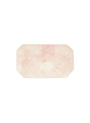 Main View - Click To Enlarge - LANE CRAWFORD - x Stoned Crystals rectangle tray –Rose Quartz