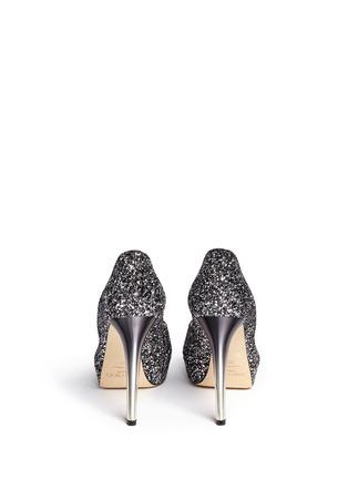 Back View - Click To Enlarge - Jimmy Choo - 'Dahlia' gradient heel glitter peep toe pumps