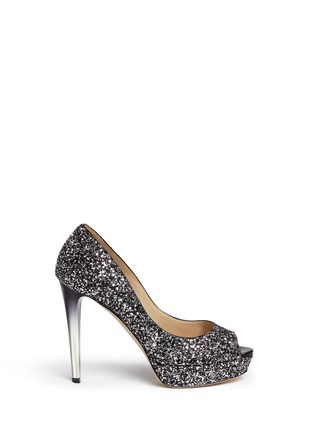 Main View - Click To Enlarge - Jimmy Choo - 'Dahlia' gradient heel glitter peep toe pumps