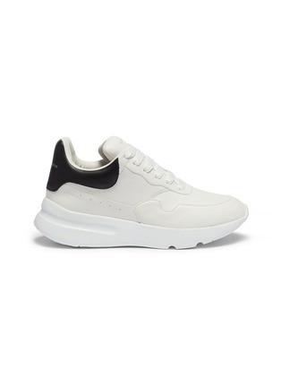 Main View - Click To Enlarge - ALEXANDER MCQUEEN - 'Oversized Runner' in leather