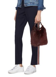 Anya Hindmarch 'Build A Bag' mini shearling and leather crossbody bag
