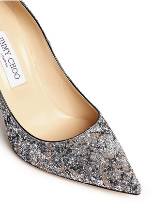 Detail View - Click To Enlarge - Jimmy Choo - 'Abel' painted coarse glitter pumps