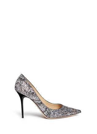 Main View - Click To Enlarge - Jimmy Choo - 'Abel' painted coarse glitter pumps