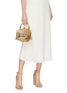 Cult Gaia 'Lilleth' metallic caged bag