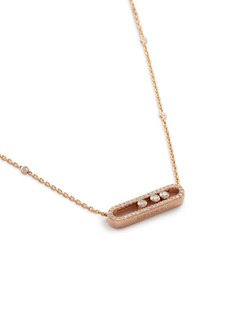 Messika 'Baby Move Pavé' diamond 18k rose gold necklace