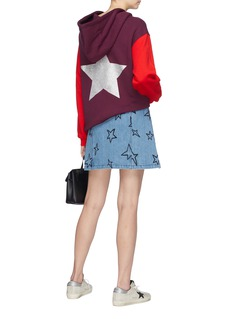Etre Cecile  Metallic star print colourblock hoodie