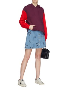 Etre Cecile  'Lili' star embroidered button front denim skirt