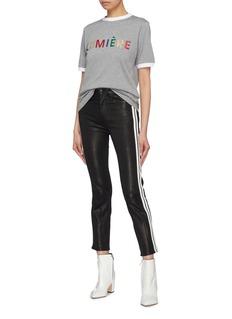 Etre Cecile  'Lumiére' glitter slogan T-shirt