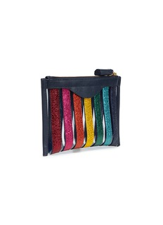 Anya Hindmarch Metallic rainbow stripe PVC pouch