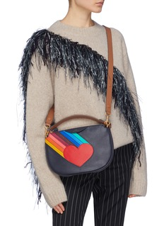 Anya Hindmarch 'Soft Stack' rainbow heart leather crossbody bag