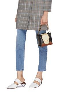 Yuzefi 'Mini Delila' oversized ring leather bucket bag