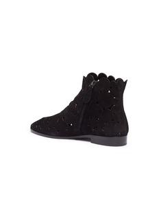 Alaïa Circular lasercut suede ankle boots