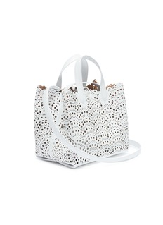 Alaïa 'Vienne' geometric lasercut mini leather tote