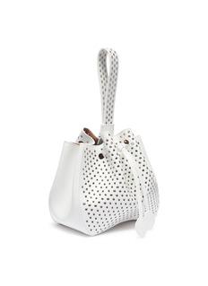 Alaïa Grommet leather bucket bag