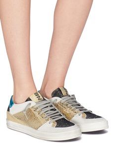 P448 'A8 Queens' metallic patchwork sneakers