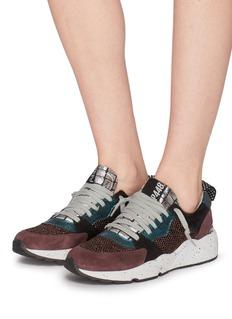 P448 'A8 Alex' glitter mesh patchwork sneakers