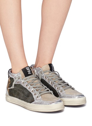 A8 Lovec' patchwork high top sneakers