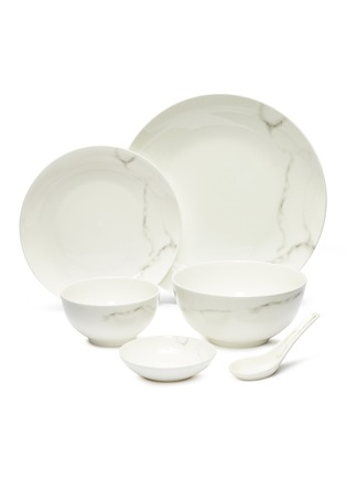 Main View - Click To Enlarge - LANE CRAWFORD - x Production Q 6-piece dining set –Marble-effect