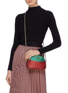 Gucci Colourblock matelassé leather mini crossbody bag