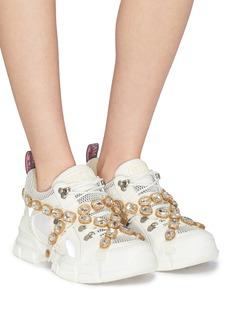 Gucci 'Flashtrek' glass crystal strap colourblock sneakers