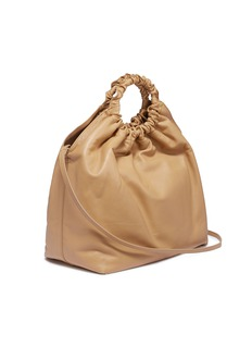 The Row 'Double Circle' ruched handle extra large leather bag