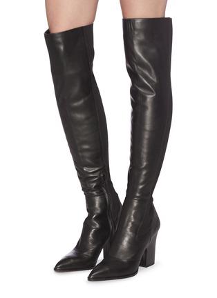 Sam Edelman Natasha Panelled Leather Thigh High Boots