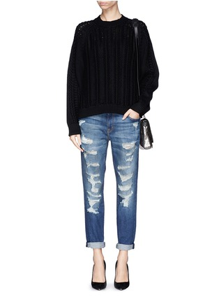 Figure View - Click To Enlarge - CURRENT/ELLIOTT - 'The Fling' ripped slim boyfriend jeans