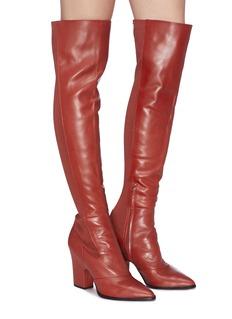 Sam Edelman 'Natasha' panelled leather thigh high boots