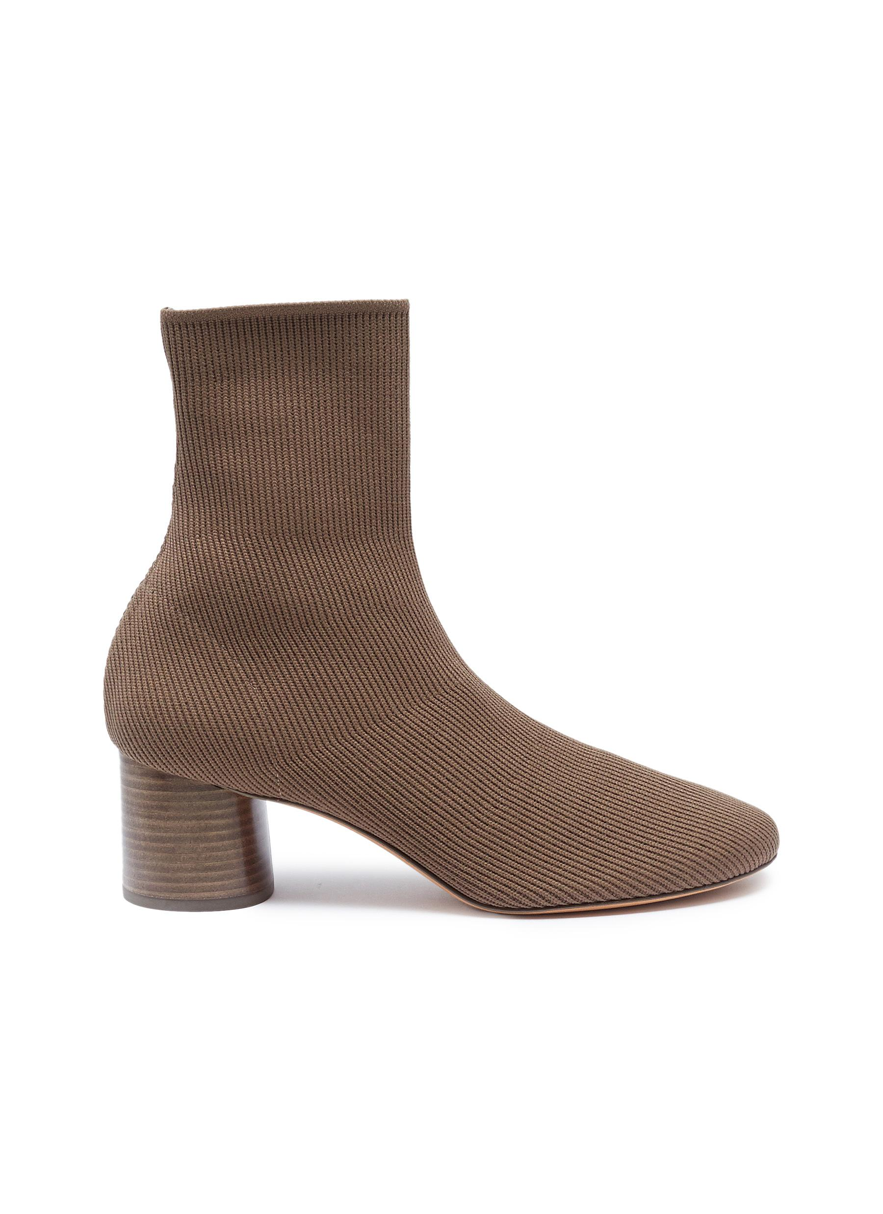 Tasha cylindrical heel sock knit ankle boots by Vince