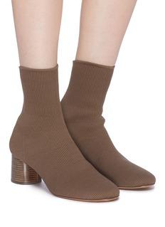 Vince 'Tasha' cylindrical heel sock knit ankle boots