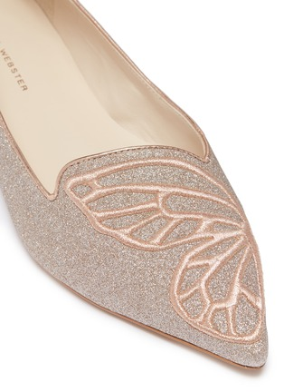 Detail View - Click To Enlarge - Sophia Webster - 'Bibi Butterfly' embroidered glitter flats