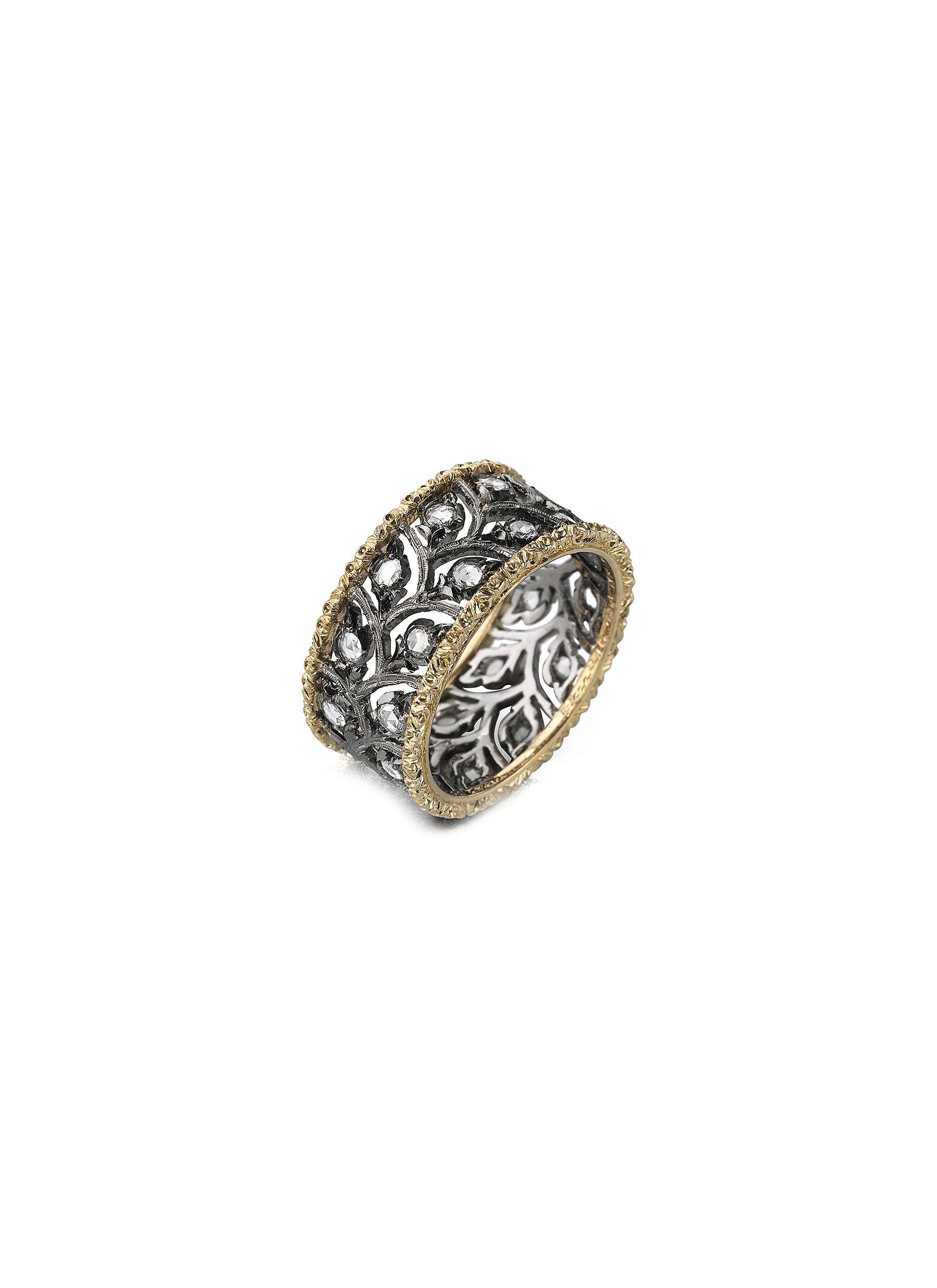 Ramage' diamond yellow and white gold ring