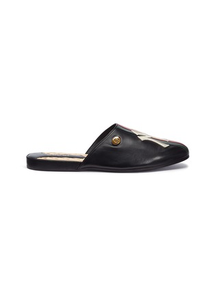 Main View - Click To Enlarge - GUCCI - x Major League Baseball 'NY Yankees™' logo embroidered leather slides