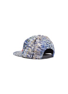 Venna 'Hey Love' mix appliqué tweed baseball cap